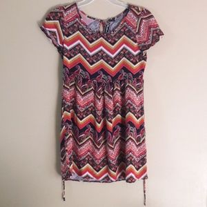 Feather's Women's Sz Med Mini Dress Or Tunic Top